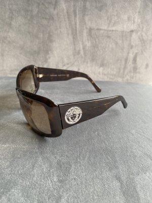 Versace Sonnenbrille braun mit Strass-Steinen