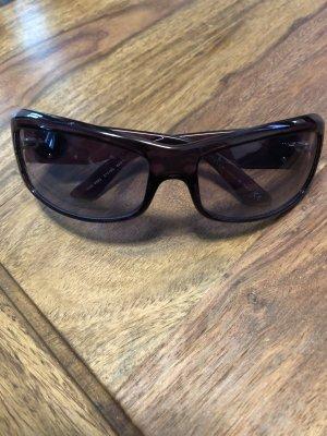Versace Ovale zonnebril braambesrood