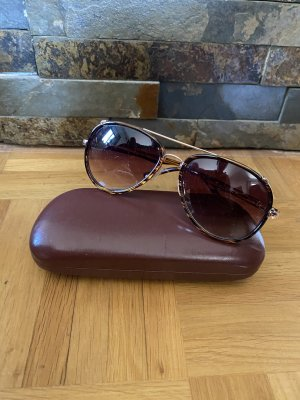 Versace Aviator Glasses brown-gold-colored