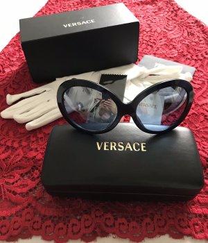 Versace Ronde zonnebril zwart-petrol