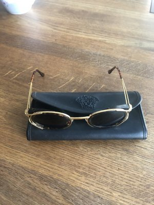 Versace Oval Sunglasses gold-colored-dark brown