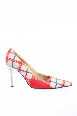 Versace Pointed Toe Pumps check pattern casual look