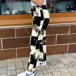Versace Five-Pocket Trousers black-cream cotton