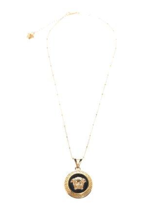 Versace Collana dichiarazione oro-nero stile casual