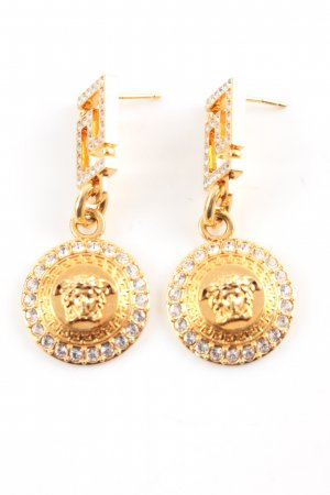 Versace Statement Earrings gold-colored business style