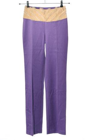 Versace Pantalon en jersey bleu-blanc cassé style décontracté