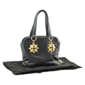 Versace Tote black leather