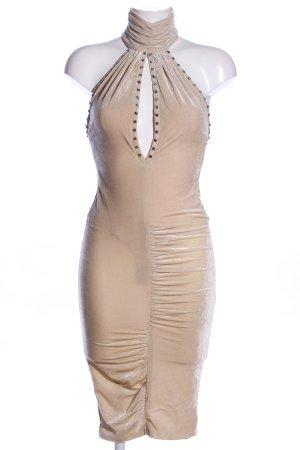 Versace Vestido elástico crema elegante