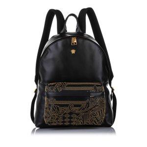 Versace Studded Medusa Leather Backpack