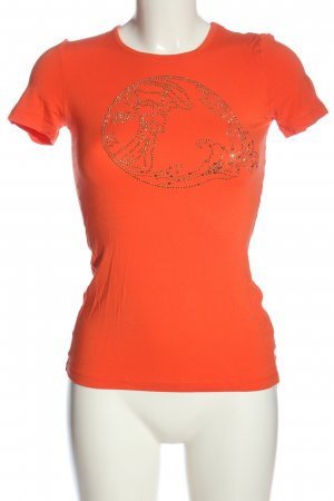 Versace T-Shirt light orange casual look