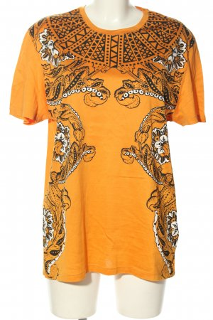 Versace T-Shirt light orange abstract pattern casual look
