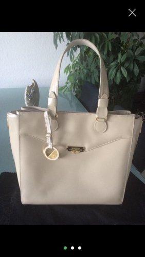 Versace Tasche Beige Lackleder