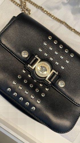 Versace Handbag black-gold-colored leather