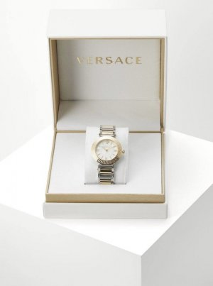 Versace Watch With Metal Strap gold-colored-silver-colored