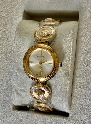 Versace Reloj con pulsera metálica color oro