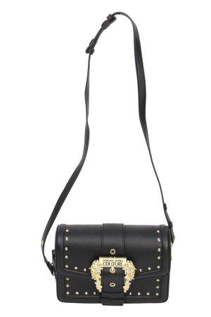 Versace Umhängetasche in Schwarz aus Leder