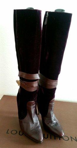versace velvet boots Stiefel aus samt und Leder winter Weihnachten