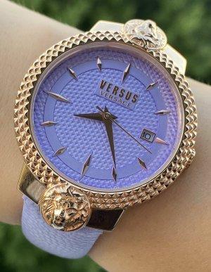 VERSUS Versace Zegarek ze skórzanym paskiem jasny fiolet