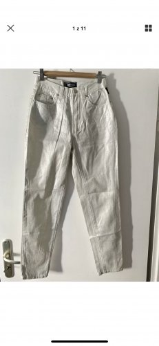 Versace Jeans Couture Hoge taille broek zilver