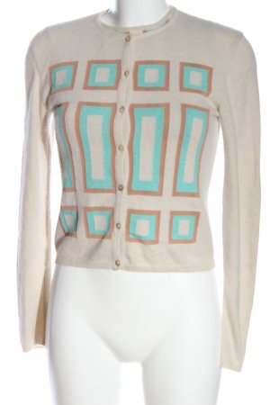 Versace Woven Twin Set natural white-turquoise graphic pattern casual look