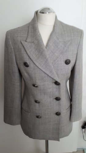 Versace Woll-Blazer, Gr.36/38 grau
