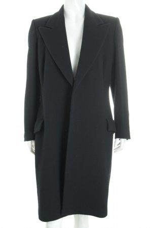 Versace Wollmantel schwarz Street-Fashion-Look