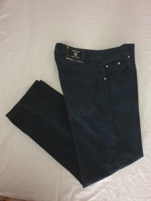 Versace High Waist Trousers dark blue