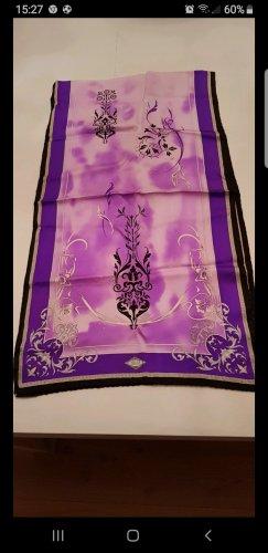 Versace Pañuelo de seda negro-lila