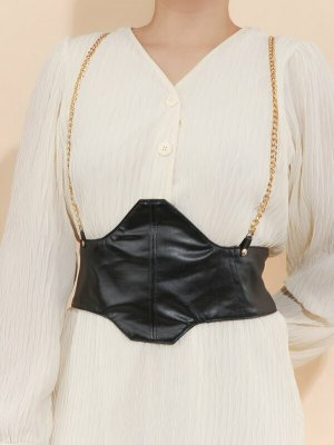Asos Cinturón pélvico negro-color oro