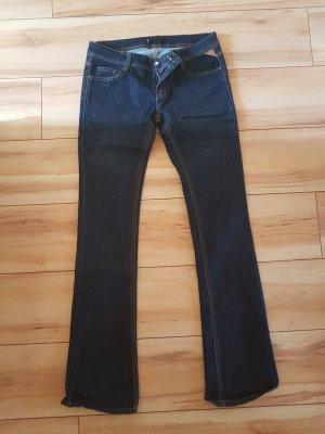 pantalón de cintura baja azul oscuro