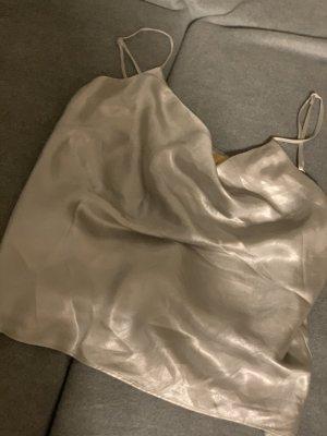 H&M Top di merletto nero-argento