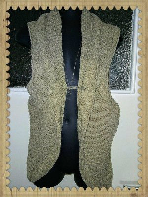Edc Esprit Cardigan a maniche corte beige-color cammello Tessuto misto