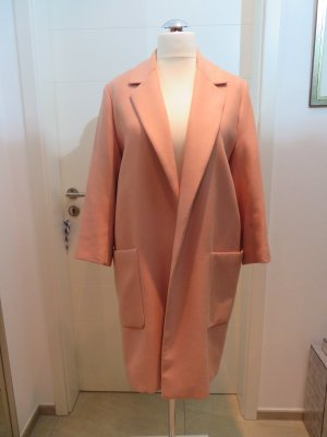 Verschlussloser Mantel Übergang Herbst Zara dunkles nude orangerosa