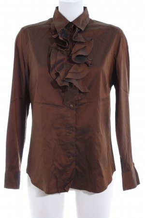 Verse Glanzbluse bronzefarben Business-Look