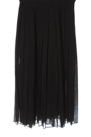 Verse Flared Skirt black striped pattern elegant