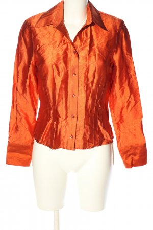 Verse Hemd-Bluse hellorange Business-Look