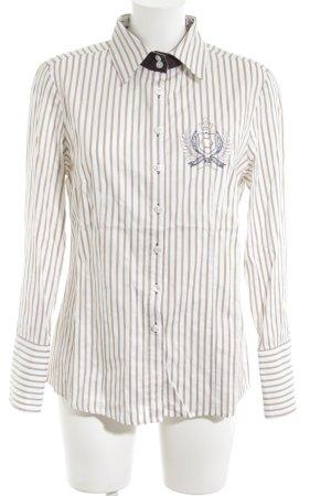 Verse Hemd-Bluse weiß-wollweiß Streifenmuster Business-Look