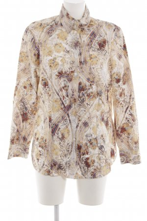 Verse Hemd-Bluse braun-creme abstraktes Muster Casual-Look
