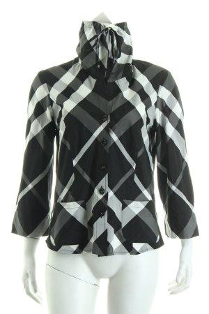 Verse Hemd-Bluse schwarz-weiß Karomuster Casual-Look