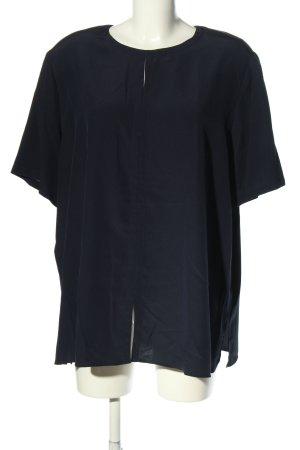 Verse Kurzarm-Bluse schwarz Casual-Look