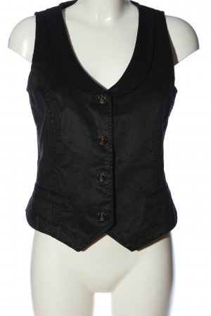 Verse Waistcoat black striped pattern casual look