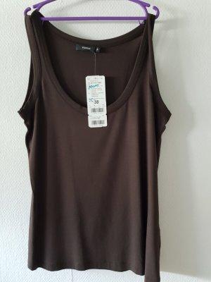 Verse T-shirt donkerbruin-zwart bruin