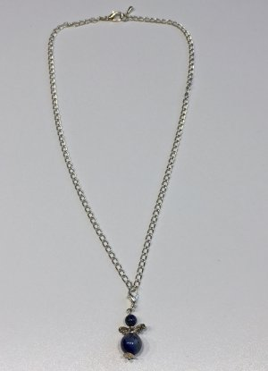 no name Catenina argento-blu scuro Tessuto misto