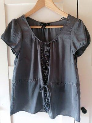 Blusa brillante grigio scuro Acrilico