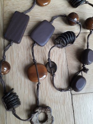 Necklace brown-dark brown