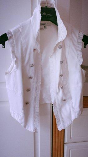 Verspielte Sommerweste in weiß