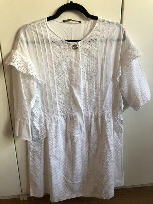 Verspielte weiße ZARA-Bluse