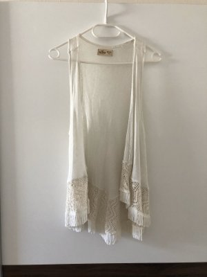 Hollister Fringed Vest cream