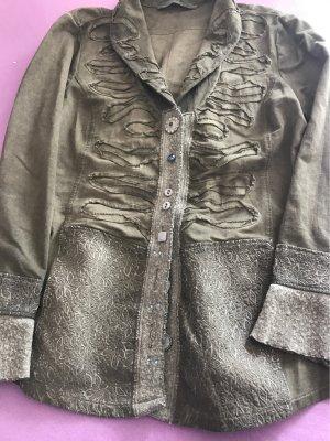 La Bottega di Lisa Marynarka koszulowa khaki