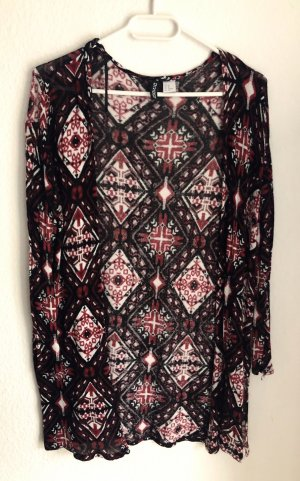 H&M Divided Cardigan black-red